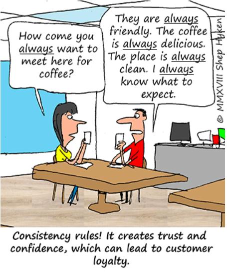 Consistency, consistency i… consistency. Czy sekret dobrego Customer Experience tkwi właśnie w teorii 3 x C?